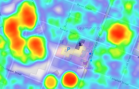 screenshot of heatmap